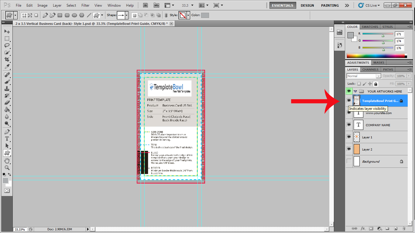 print guides in Photoshop